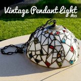 VINTAGE Stained glass light fixture in Naperville, Illinois