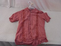 100% linen mens xl extra large red tommy bahama button up casual shirt  41152 in Huntington Beach, California