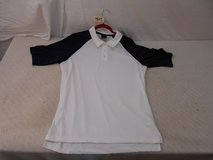 oakley sports golf polo shirt mens collared white large lg 100% polyester 41165 in Huntington Beach, California