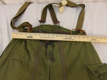 vintage military intermediate 34 flying trousers type a-11a green stagg garmet  00241 in Huntington Beach, California