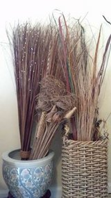 Tall Basket and Various Dried Grasses in Fort Rucker, Alabama