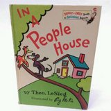 RARE Vintage 1972 Dr Seuss IN A PEOPLE HOUSE Bright & Early Beginner Hard Cover Book in Morris, Illinois