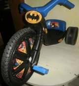 Playskool ride-on 16 BATMAN Power Cycle 1988 Big Wheel Trike Tricycle in Batavia, Illinois