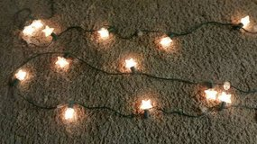 """2 new 9' strands of puffed 2"""" stars for indoors or out in Camp Pendleton, California"""