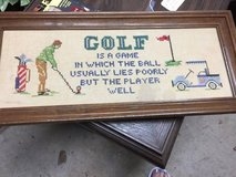 FRAMED -finger point golf picture in Warner Robins, Georgia