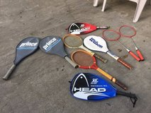 TENNIS & RACQUETS (LOT) in Warner Robins, Georgia