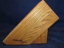 CHICAGO CUTLERY Medium Oak 6 Slot Knife Block VINTAGE in DeKalb, Illinois