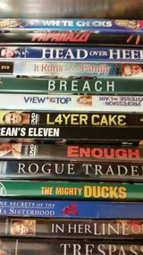 14 DVD movies at $2 each watched once in Oceanside, California