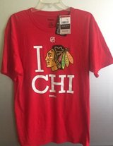 Chicago Blackhawks Logo T-shirt Reebok NHL Sz L in Plainfield, Illinois