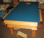 Vintage DYNAMO 8 Ft. Slate Pool Table - Excellent Condition in Lockport, Illinois