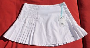 FILA White Polyester Pleated Tennis Skirt, Medium - EUC! in Lockport, Illinois