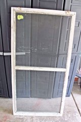 Antique 1930s Central Illinois Farmhouse Shabby Decor Window Screen Chippy White in Wheaton, Illinois