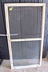 Antique 1930s Central Illinois Farmhouse Shabby Decor Window Screen Chippy White in Lockport, Illinois