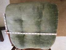 6 GREEN SEAT CUSHIONS 18 x 18 INCHES WITH TIES in Oswego, Illinois