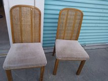 2 Cane Back or Cane Back Style Dining Chairs in Travis AFB, California