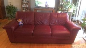 Red Leather Sofa in Westmont, Illinois