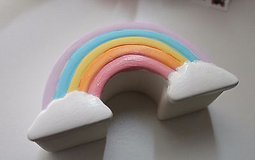 DIY19 rainbow unpainted ceramic dish-selling together in Fort Campbell, Kentucky