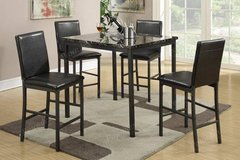 Counter Height Faux Marble Metal Table and 4 Chairs Set FREE DELIVERY in Oceanside, California