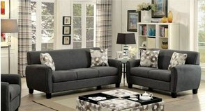 Liana Gray Charcoal Brown Linen Fabric Sofa FREE DELIVERY in Oceanside, California