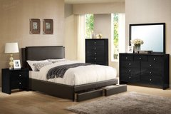 QUEEN Brown Storage Bed Frame (King/Cali King optional) FREE DELIVERY in Oceanside, California