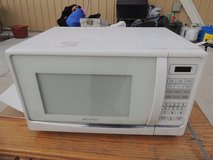 emerson microwave oven model mw1119w 1500 watt white turntable  51013 in Fort Carson, Colorado