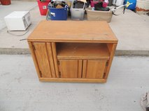 small entertainment center tv light colored wood cd/dvd cabinet  51008 in Fort Carson, Colorado