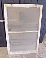 Antique 1930s Central Illinois Farmhouse Shabby Decor 2-Pane Window Chippy White in Wheaton, Illinois