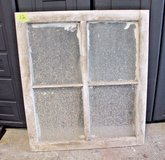 Antique 1930s Central Illinois Farmhouse Shabby Decor 4-Pane Window Chippy White in Wheaton, Illinois