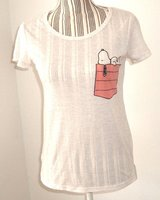 Peanuts Heather Beige SNOOPY Tee Top T-Shirt Womens XS X-Small 0 2 in Morris, Illinois
