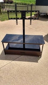 GLASS/METAL FRAME ENTERTAINMENT CENTER in Fort Campbell, Kentucky