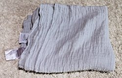 Aden and Anais Cotton Muslin Taupe/Gray Swaddle  Blanket - Gender Neutral! in Glendale Heights, Illinois
