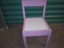 Lavender and White Childs Chair or large doll chair in Sacramento, California