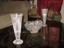 3 pieces of Crystal  1 Candy Dish 2 vases in Yucca Valley, California