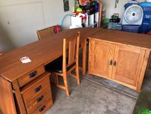 Mission Style Office Set - Desk, Cabinet, File Cabinet and Chair in Batavia, Illinois