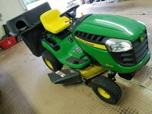 2012 John Deere D110 Riding Mower with grass bagger in Columbia, South Carolina
