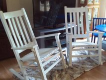 2 Matching Solid Wood Rocking Chairs in Warner Robins, Georgia