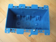 switch outlet wall electrical box 3-gang interior old work standard blue plastic in Plainfield, Illinois