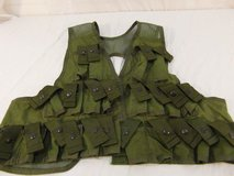 vietnam war era nylon m79 / m203 carrying vest olive drab large 43 chest  over 00315 in Huntington Beach, California