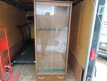wooden gun rack cabinet vertical storage glass front display case 51022 in Huntington Beach, California