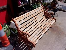 Wood and Iron Bench in Fort Riley, Kansas