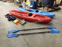 Pair of Kayaks and Accessories in Clarksville, Tennessee