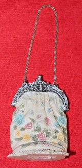 Small Decorative Floral Purse, Chain Purse Strap, 3.5 inches Tall in Glendale Heights, Illinois