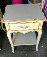 Vintage Dixie French Provincial night stand white and Gold in Fort Lewis, Washington