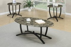 Faux Marble Coffee Table and 2 End Tables Set FREE DELIVERY in Vista, California
