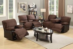Chocolate Sofa Console and/or Loveseat Recliner FREE DELIVERY in Vista, California