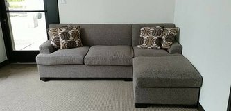 New Slate Brown Gray Loveseat and Chaise Sectional FREE DELIVERY in Vista, California