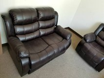 Rustic Brown Sofa Recliner (Loveseat or Chair optional) free delivery in Vista, California