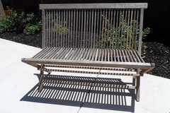 Solid Wood Foldable Patio Bench in Fairfield, California