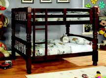 New Wood Twin/Twin Bunk Bed +Optional Trundle or Drawers FREE DELIVERY in Miramar, California