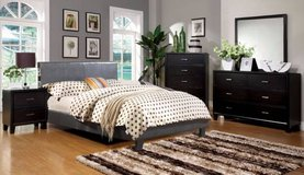 New Gray QUEEN Bed BLUETOOTH Music with Slats FREE DELIVERY in Miramar, California